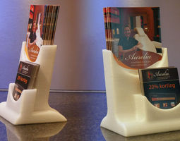 brochure stand 3d print model