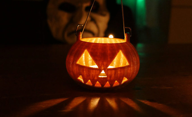 Halloween pumpkin for candle
