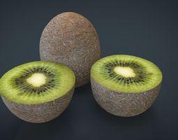 Realistic Kiwi 3D asset