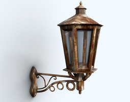 Old wall lamp 3D Model