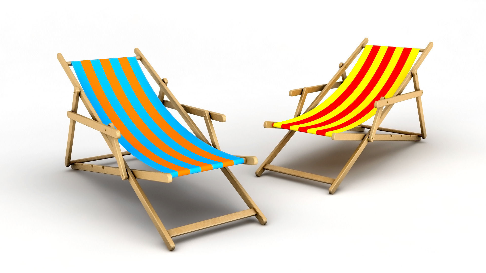 3D model Beach Chair folding
