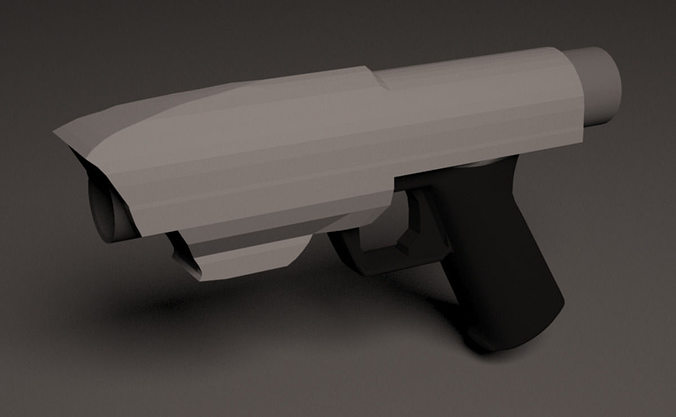 pistol 3d model max obj mtl 3ds c4d 1