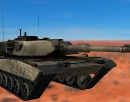 3d asset m1 abrams rigged tank realtime