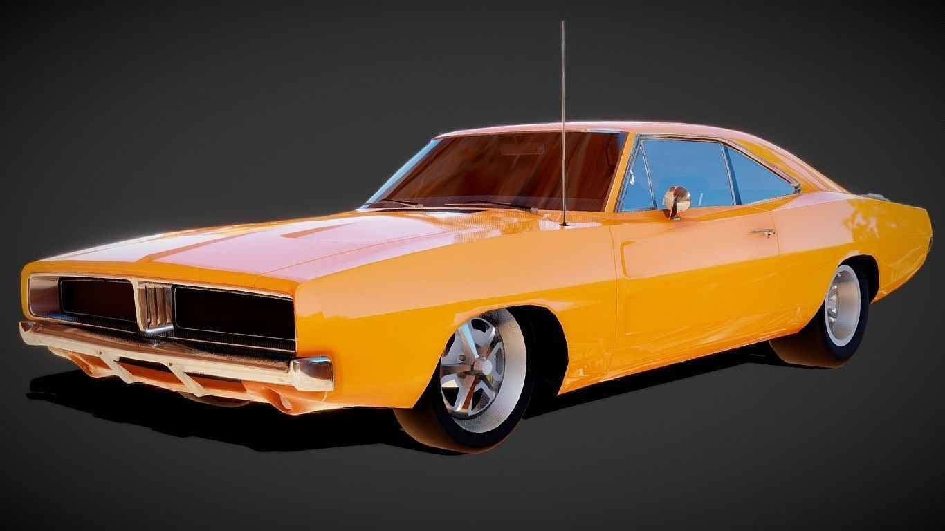 Dodge Charger 1969 Muscle Car 3D Model
