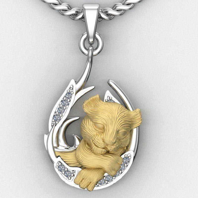 pendant little lion cub sleeping