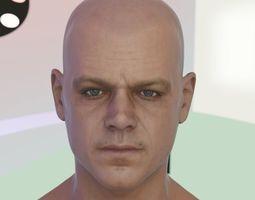 3d model Matt Damon head low-poly