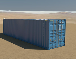 rigged 40ft container 3d