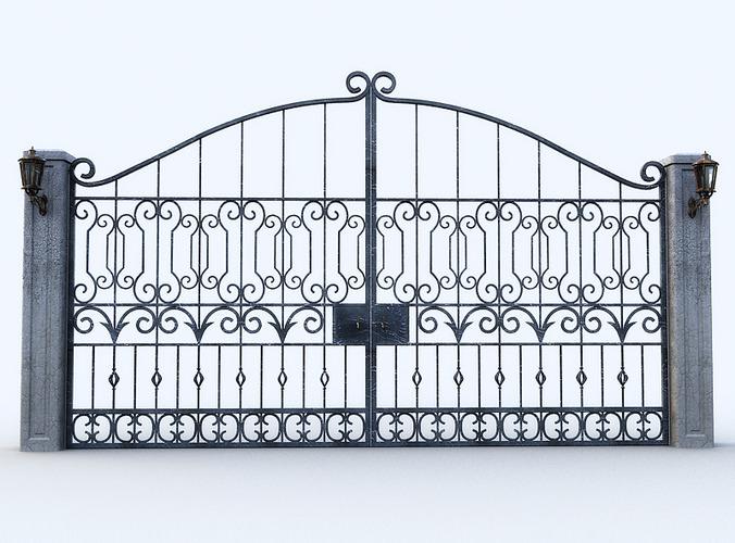 Gate Lamp 3d Model