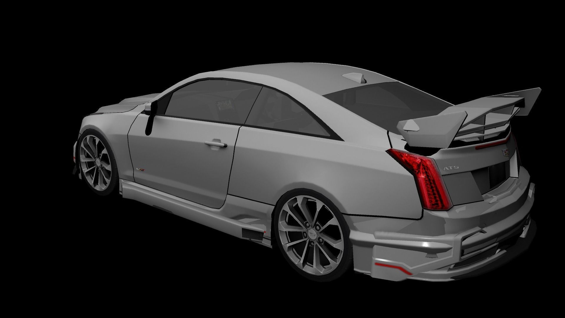 cadillac ats v coupe 2016 custom 3d model game ready ma mb tga. Black Bedroom Furniture Sets. Home Design Ideas