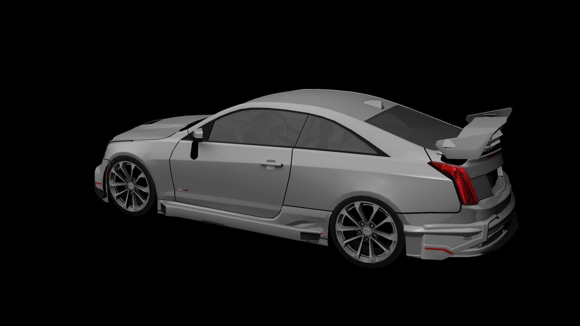 Cadillac ATS V Coupe 2016 Custom 3D Model Game ready .ma ...
