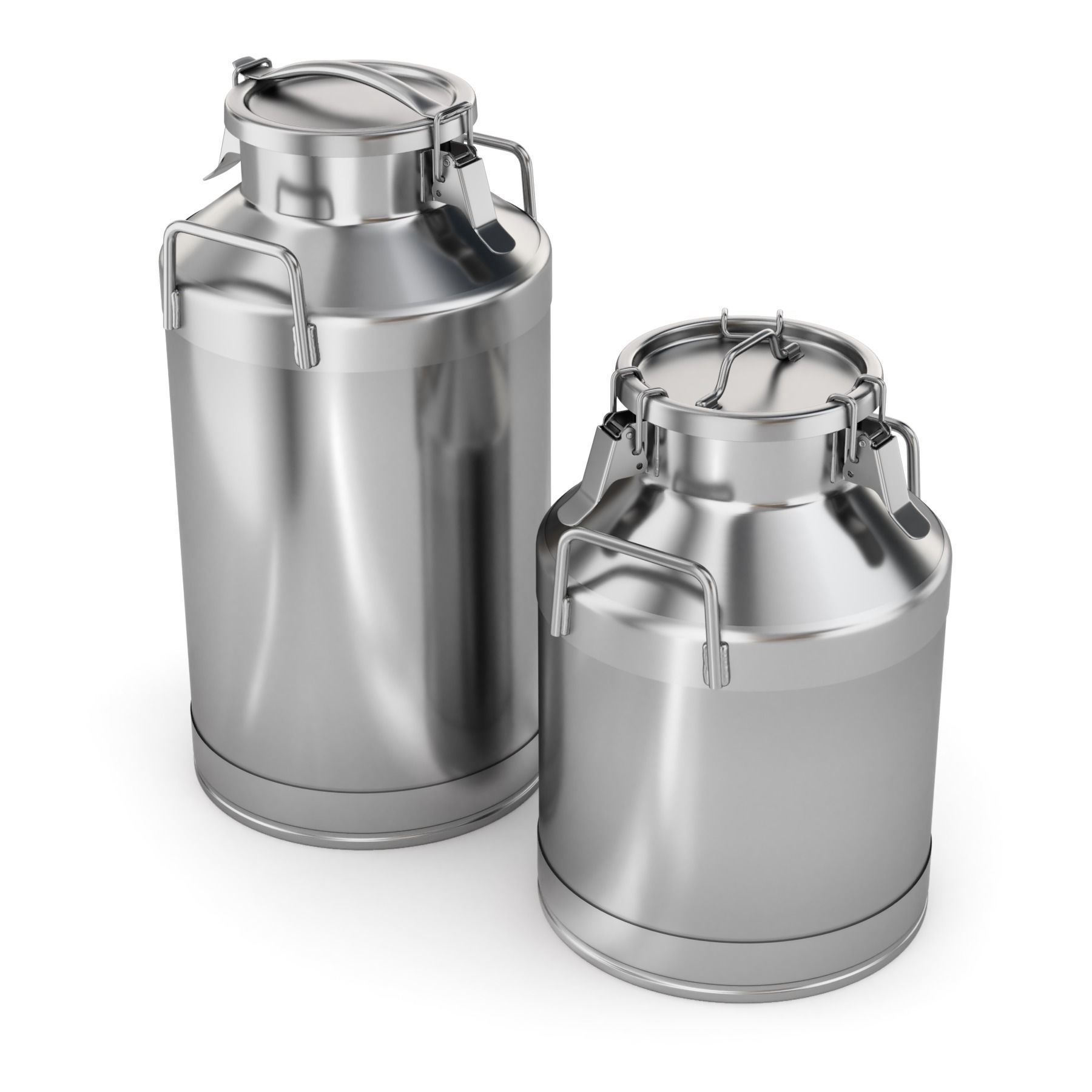 Big Milk Cans with Latch