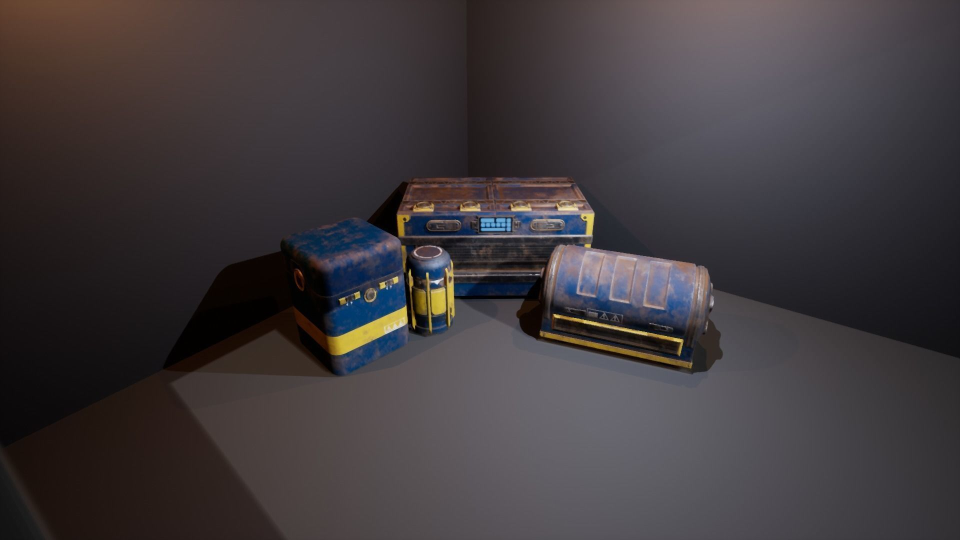 Sci-Fi Containers | 3D model