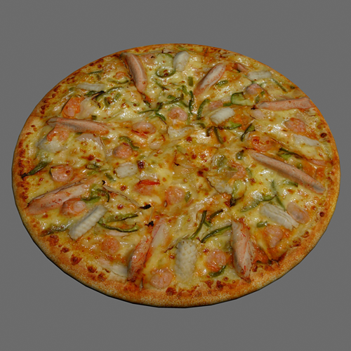 pizza seafood 3d model max obj mtl 1