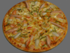 Pizza (seafood) 3D Model