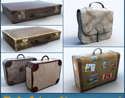 Briefcase Suitcase collection 3D Model