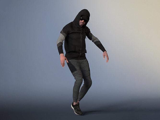 Bruce 20376-09 - Hip Hop Dancer - Animated Model
