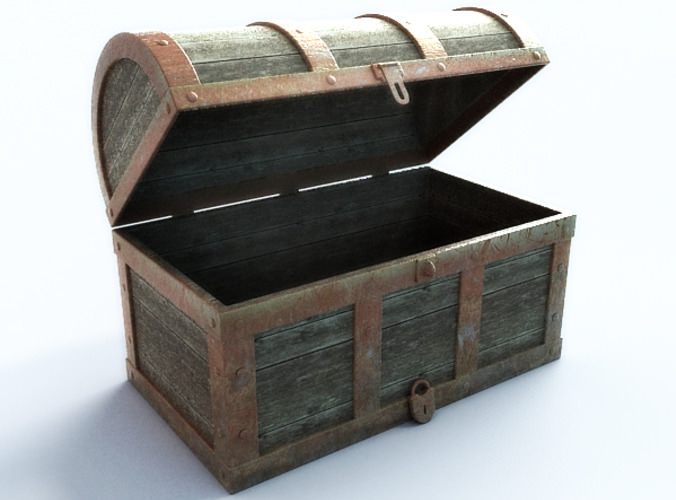Treasure chest empty 3D Model .max .obj .3ds .fbx - CGTrader.com