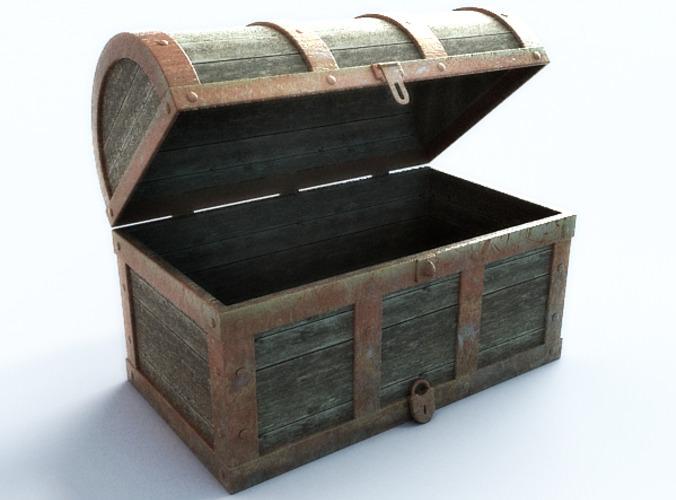 Treasure chest empty 3d model
