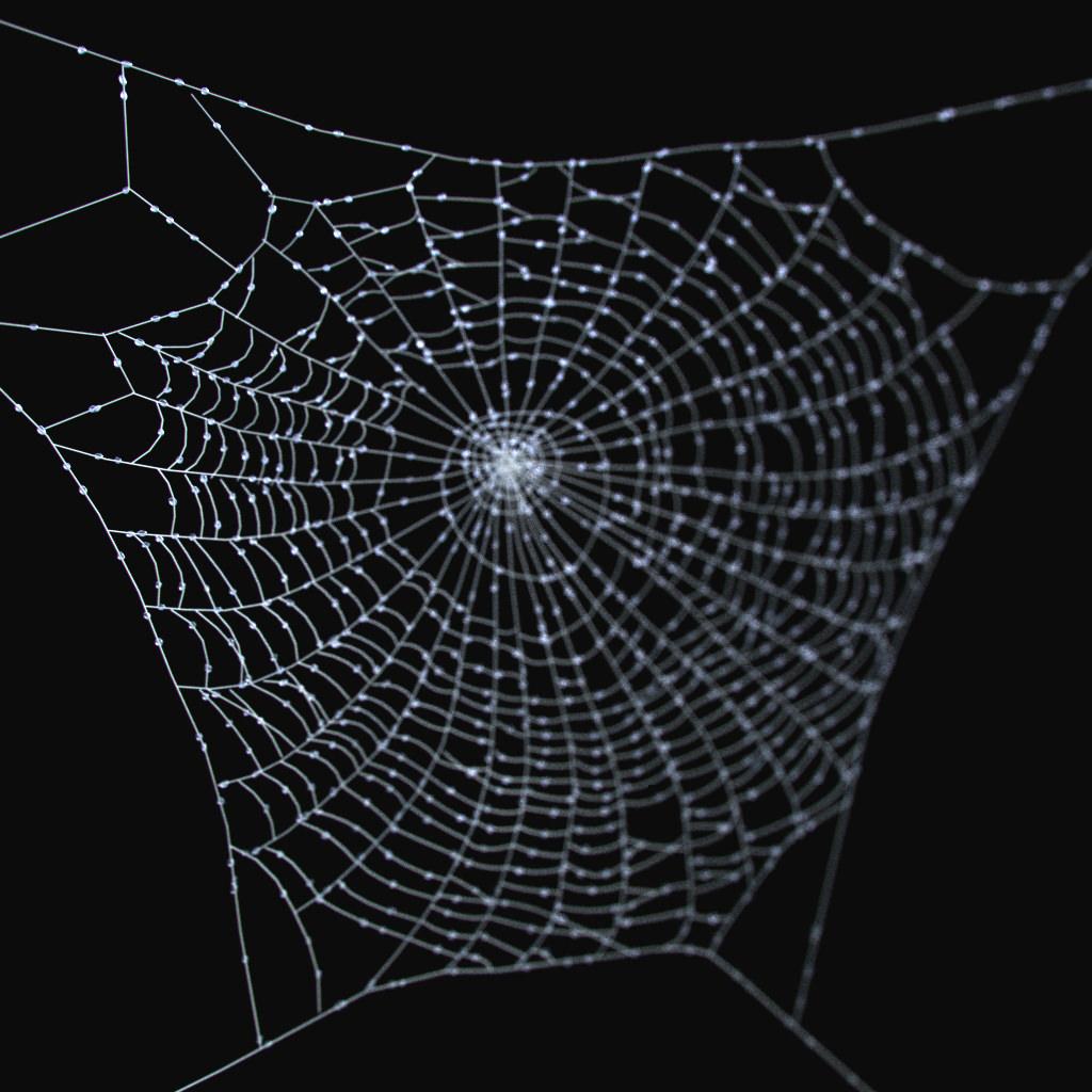 Spider Web Halloween Decorations: Spider Web 3D Model .max .obj .fbx