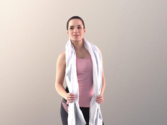 Juliette 10781 - Sport Girl with towel