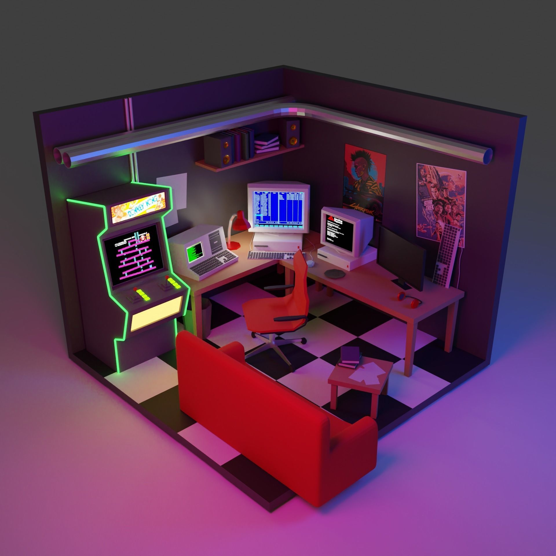 80s hackers room