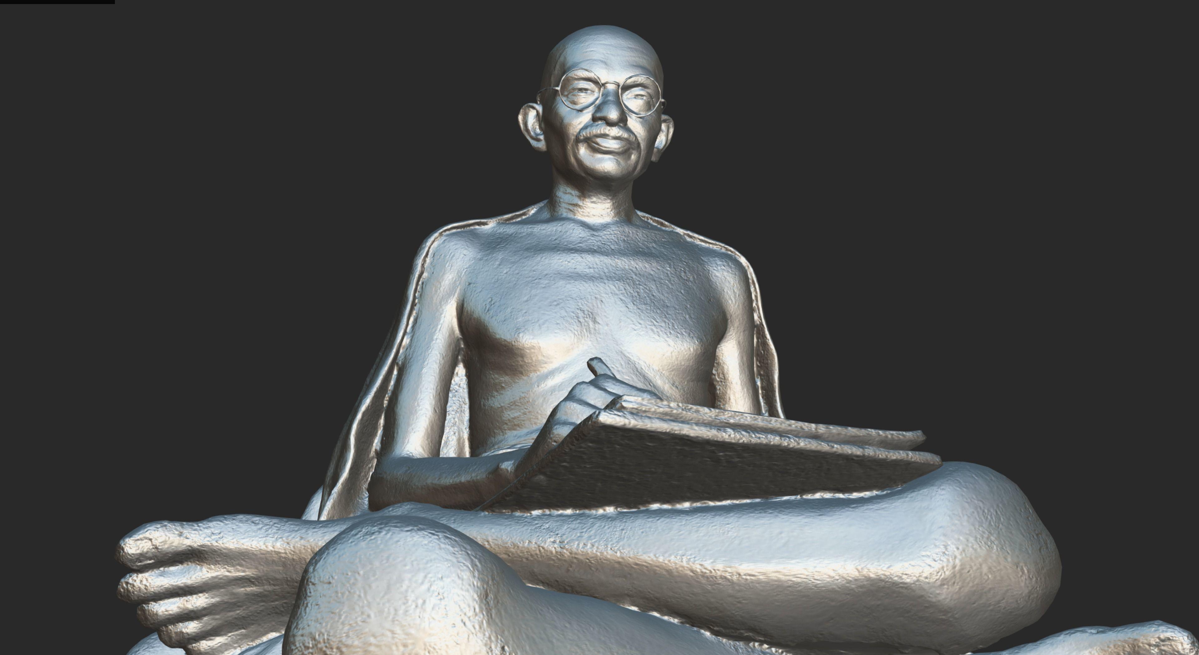 Gandhi with letter 3DP