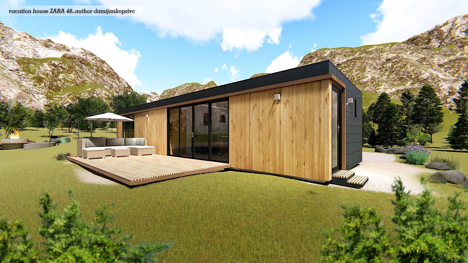 modern mobile home tiny house vacation house  ZARA 48 on 48m2