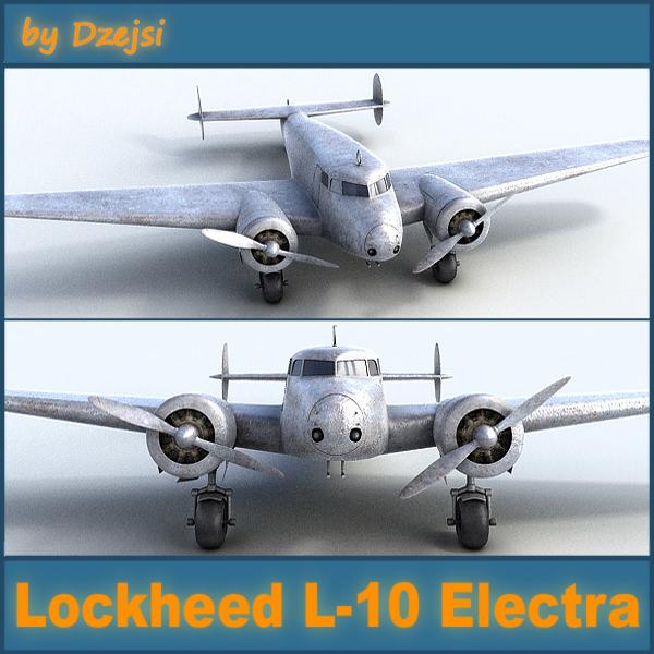 Lockheed L 10 Electra 3d Model Max Obj Fbx Cgtrader Com