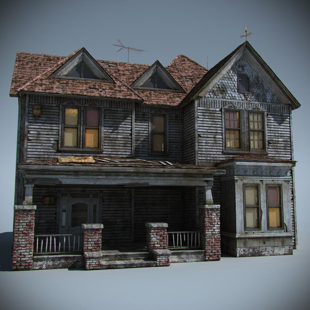 Old farm house 3d model max obj fbx for Farm house model