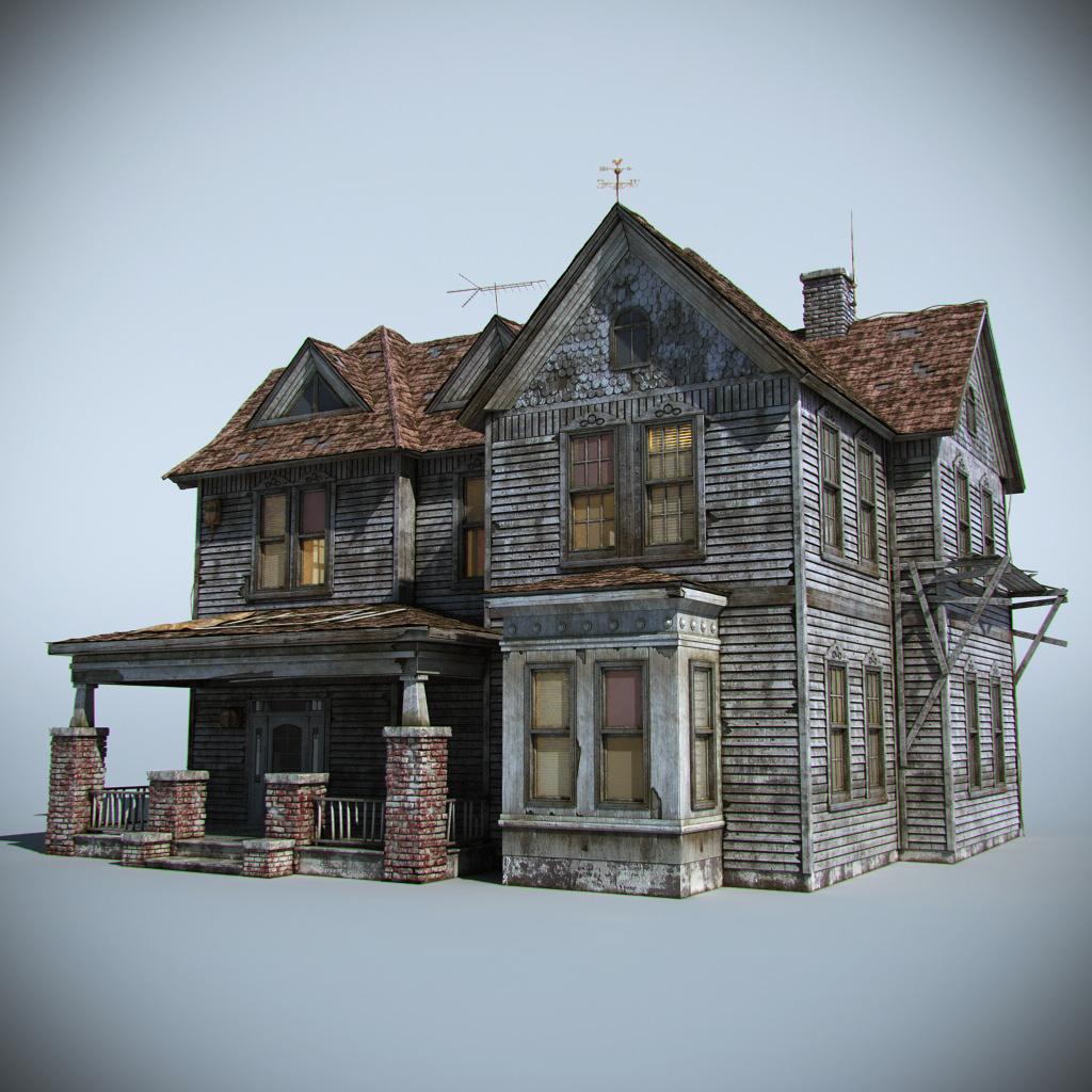 Old farm house 3d model max obj fbx for 3d house model