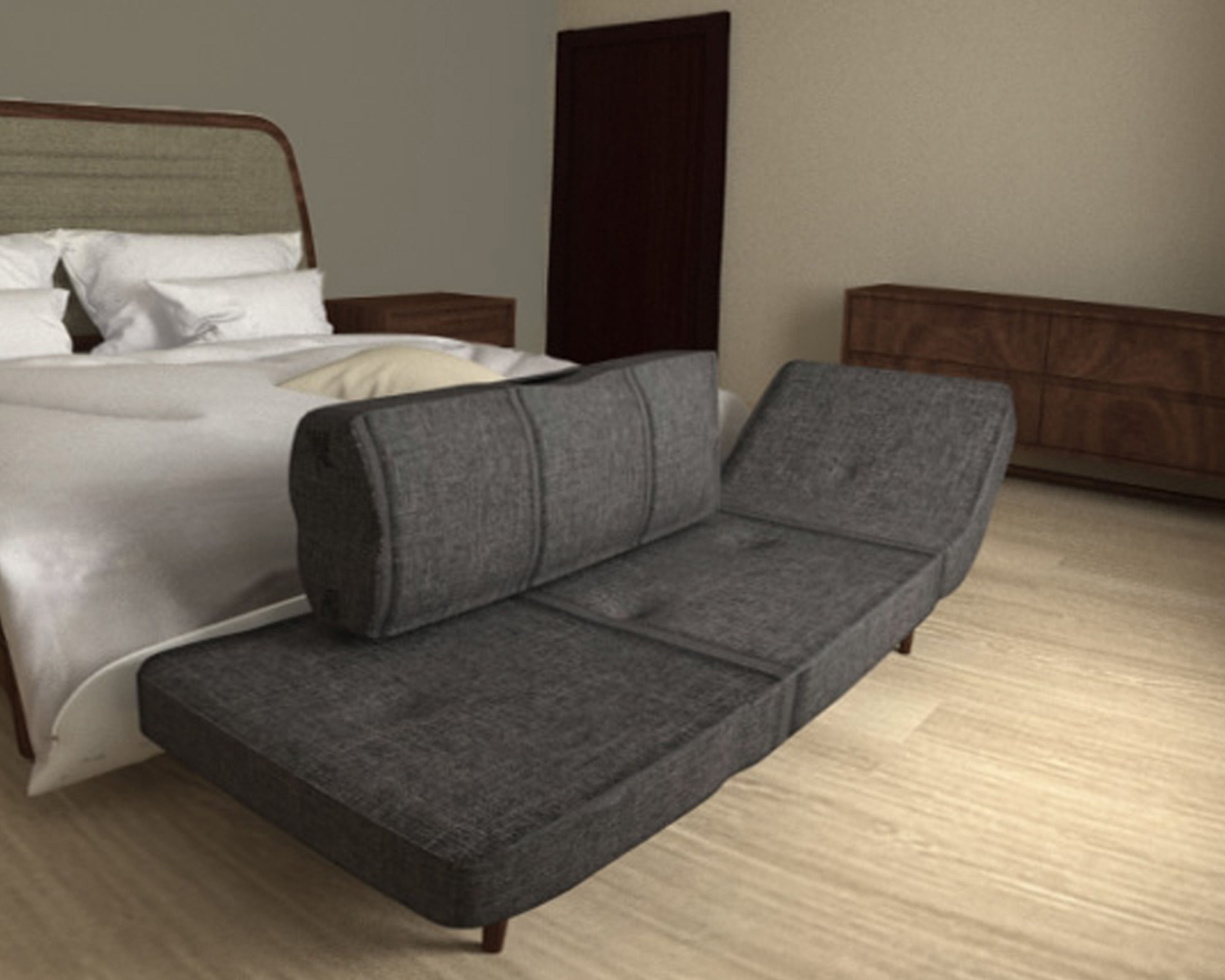 Sofa bed free 3d model game ready max for Sofa bed 3d model