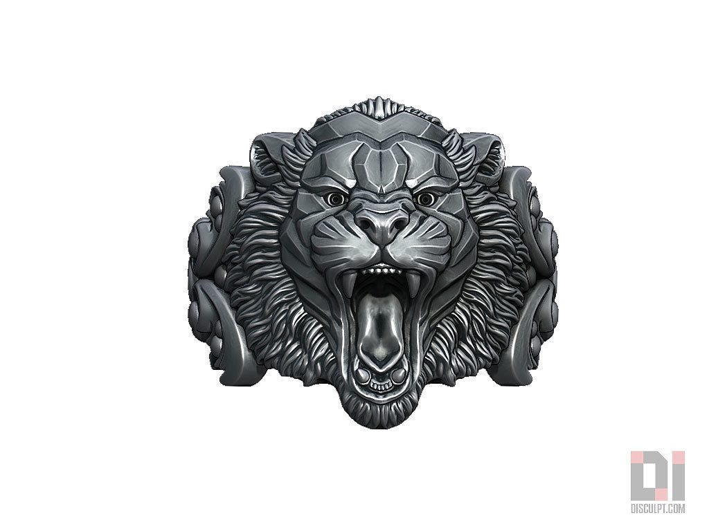 Angry tiger relief ring jewelry