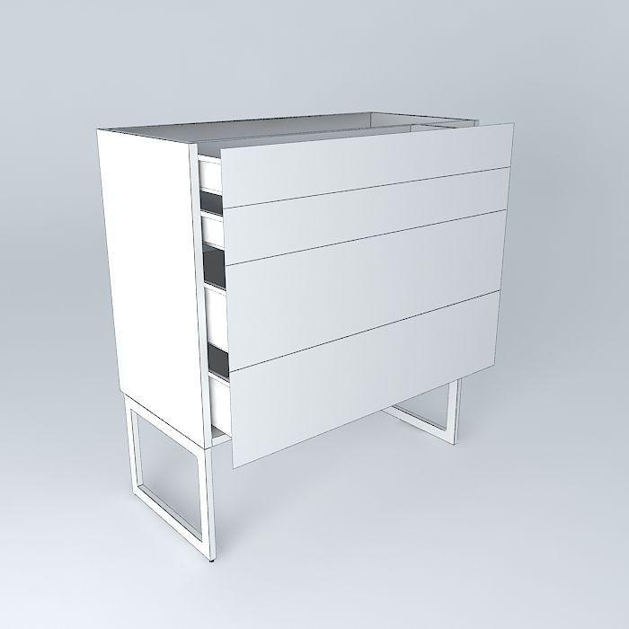 Kitchen Cabinet Free 3d Model Max Obj 3ds Fbx Stl