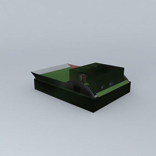 House Section 3d Model Max Obj 3ds Fbx Stl Skp