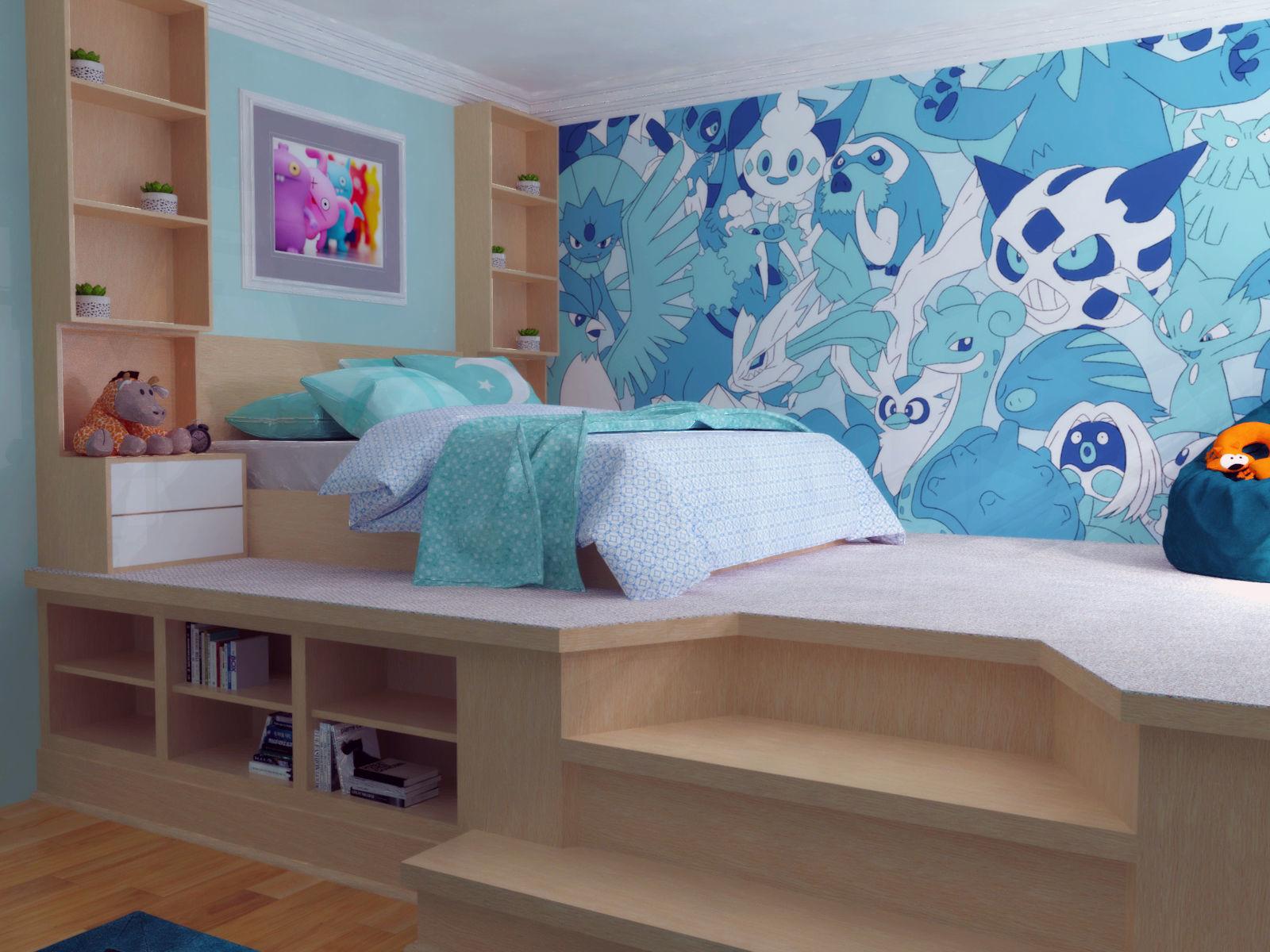 Kids Bedroom Scene   3D model