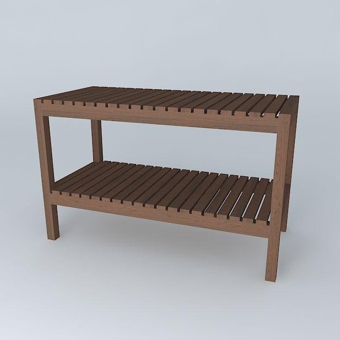 molger bench dark free 3d model max obj 3ds fbx stl