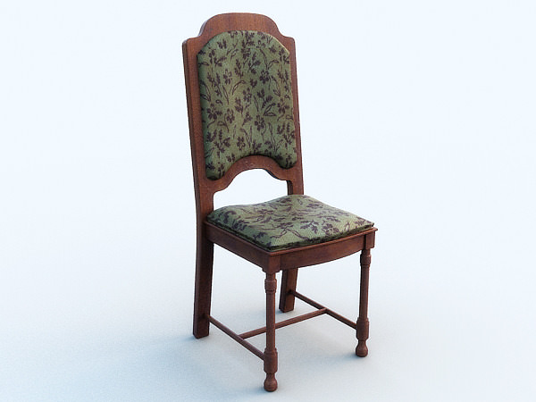 Old chair3D model
