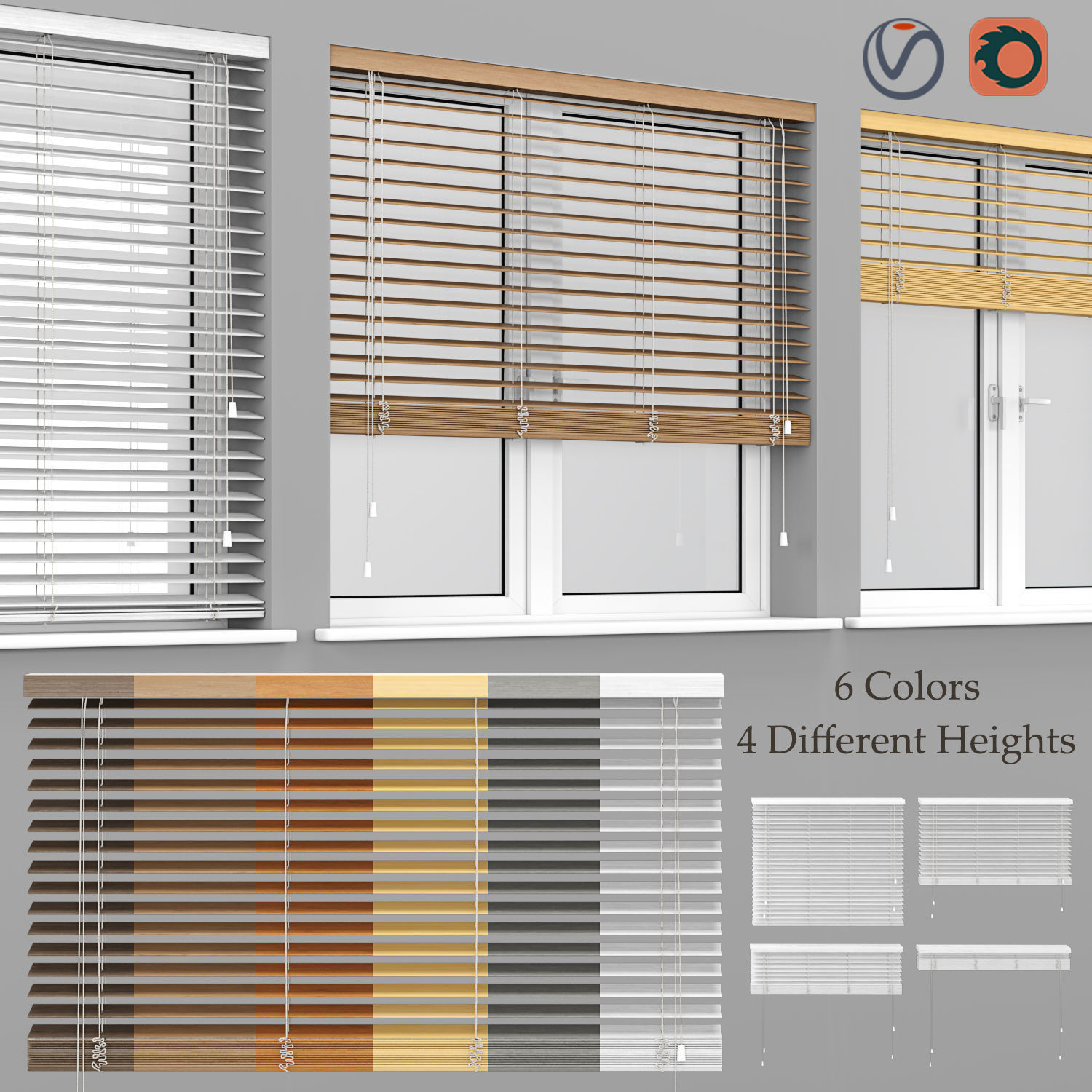 Wooden Blinds And Windows