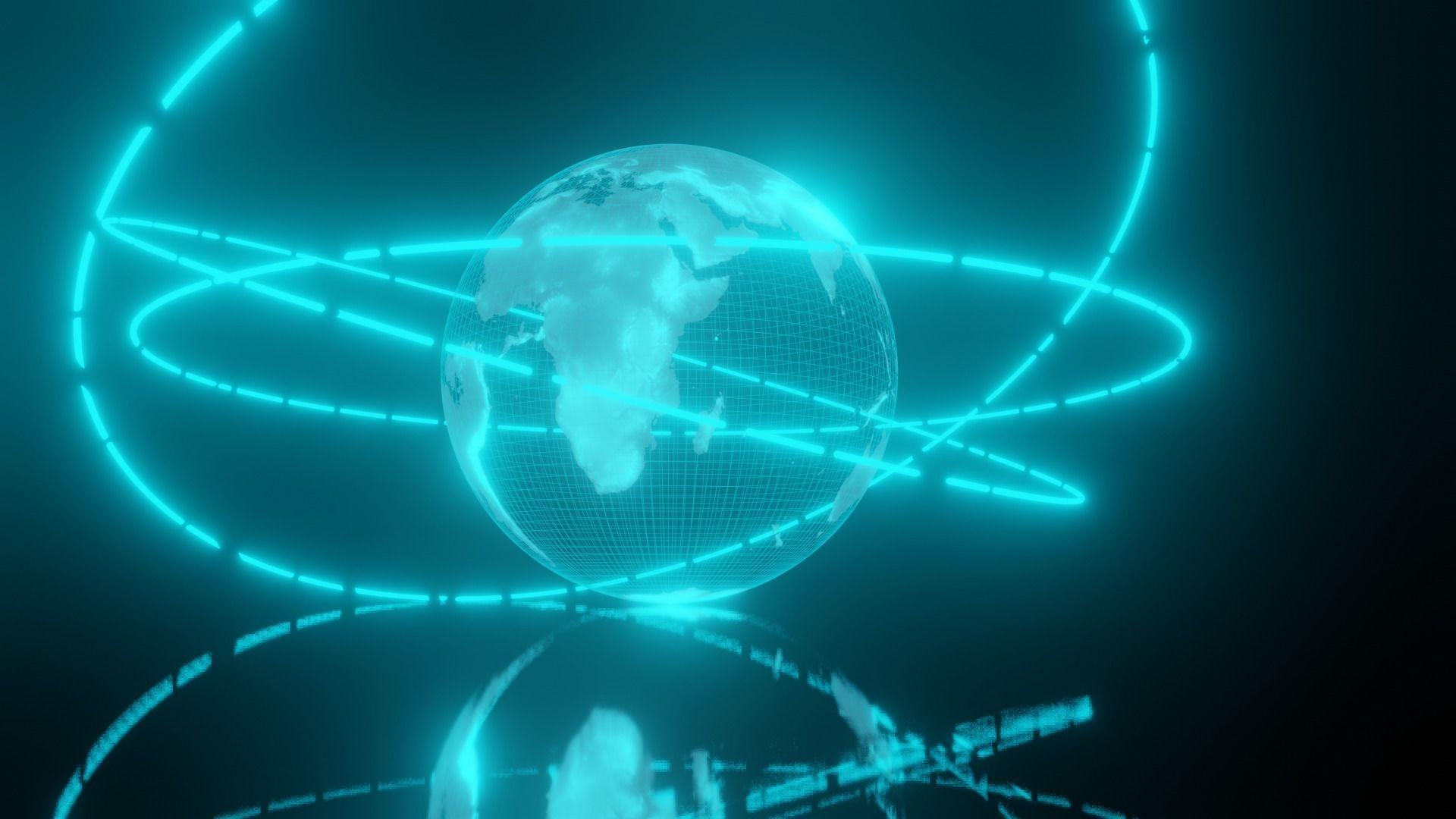 Earth hologram 3D