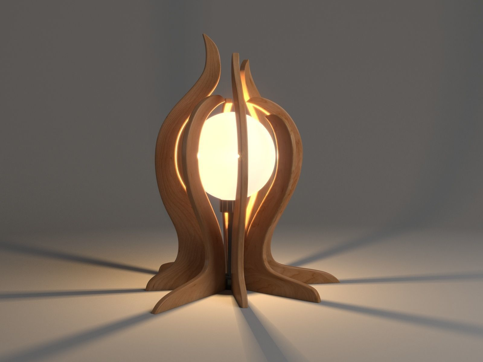 Wooden Garden And Table Lamp Design