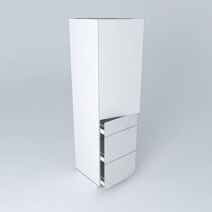 Kitchen Cabinet Models: Modern Kitchen Cabinet Free 3D Model .max .obj .3ds .fbx