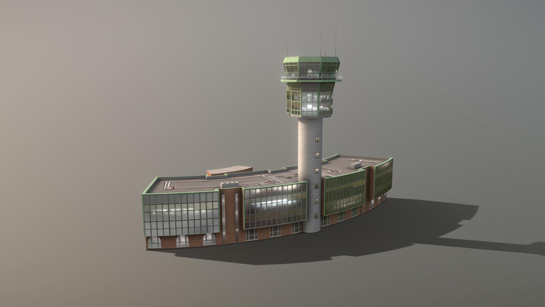 Airport Control Tower LIRN KDP Naples International Airport