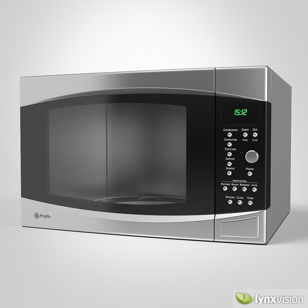 Ge Microwave Oven 3d Model Max Obj Fbx Cgtrader Com