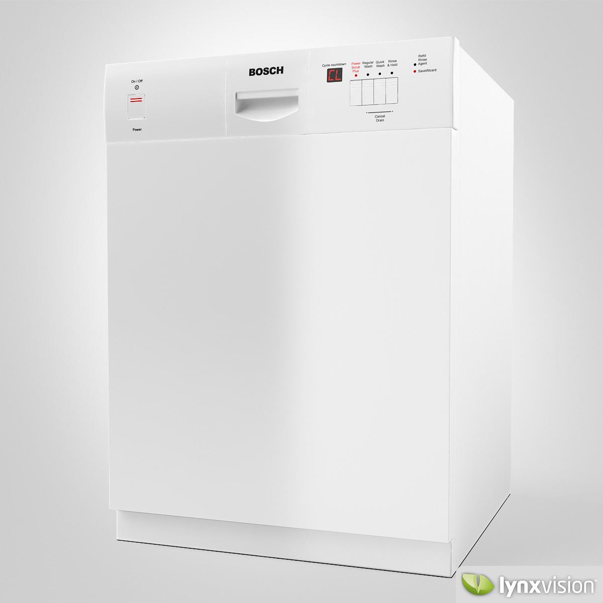 3d bosch dishwasher