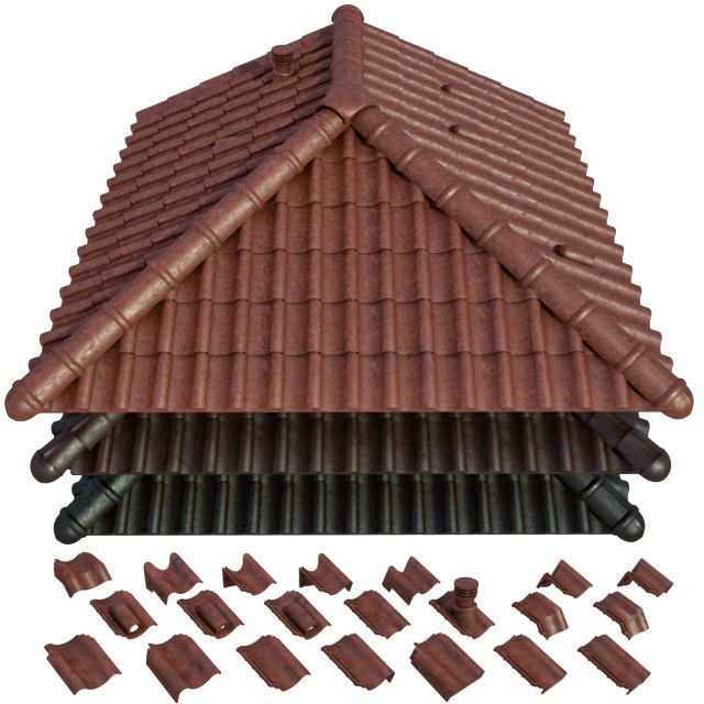 3D model Roof and Ceramic tiles | CGTrader on Tile Models  id=48837