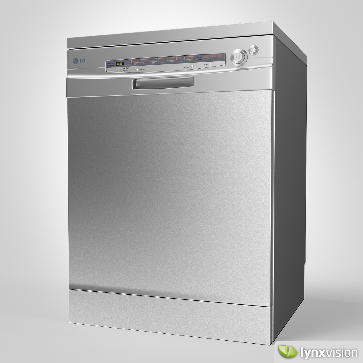 LG Dishwasher 3D Model Max Obj Fbx