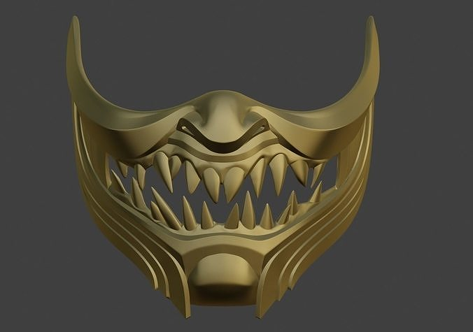 3d Printable Model Scorpion Demon Samurai Cosplay Mask 4