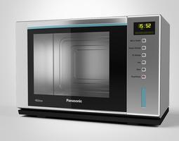 panasonic microwave steam oven 3d model max obj fbx