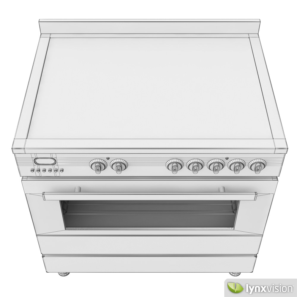 Electric Kitchen Stoves With Grills ~ Euromaid electric stove and grill d model max obj fbx
