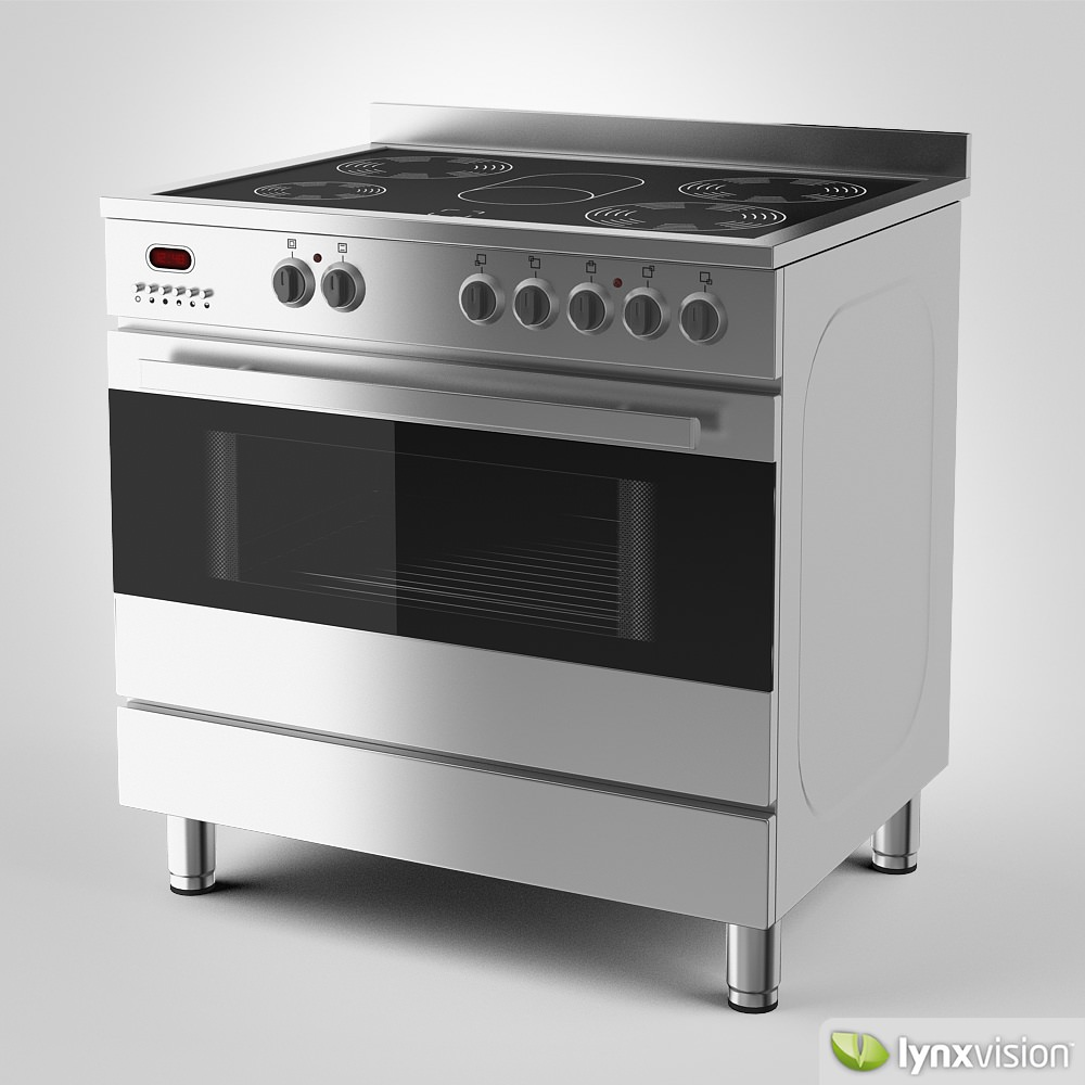Electric Stove With Grill ~ Euromaid electric stove and grill d model max obj fbx